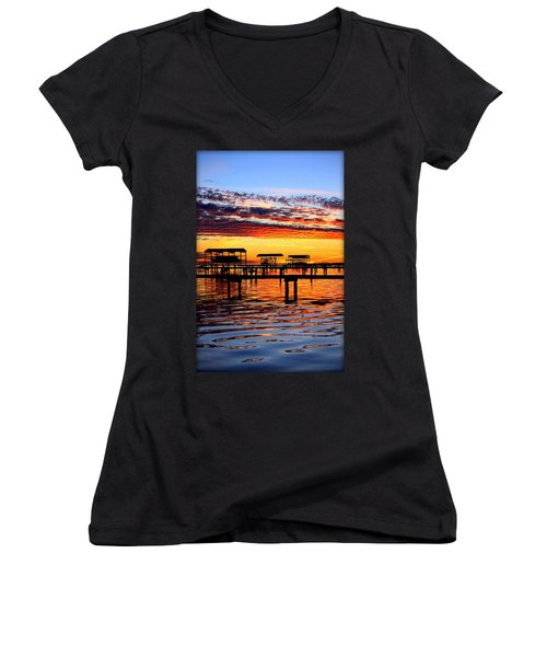 Sunset Breeze Women's V-Neck (Athletic Fit)