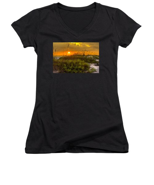 Sunset Dunes Women's V-Neck T-Shirt