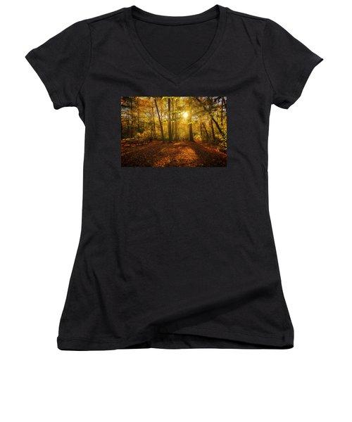 Sunset Forest Women's V-Neck
