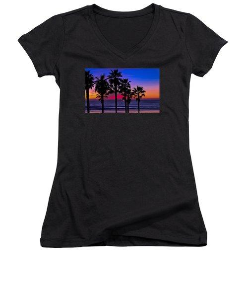 Sunset From The Ocean Park Inn Women's V-Neck