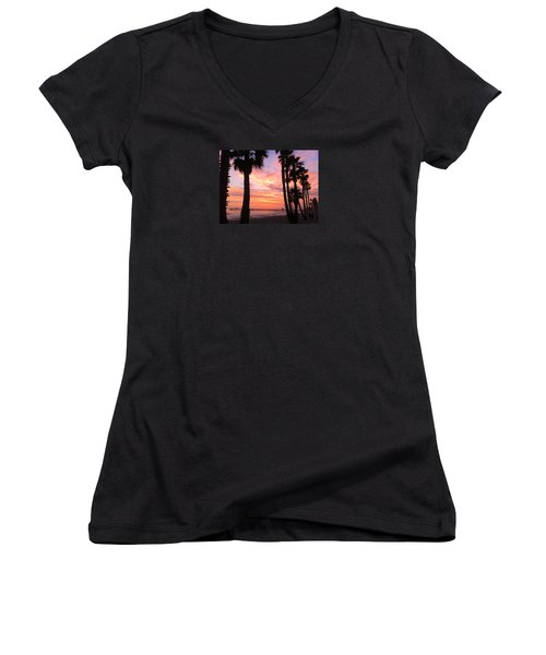 Sunset In San Clemente Women's V-Neck (Athletic Fit)