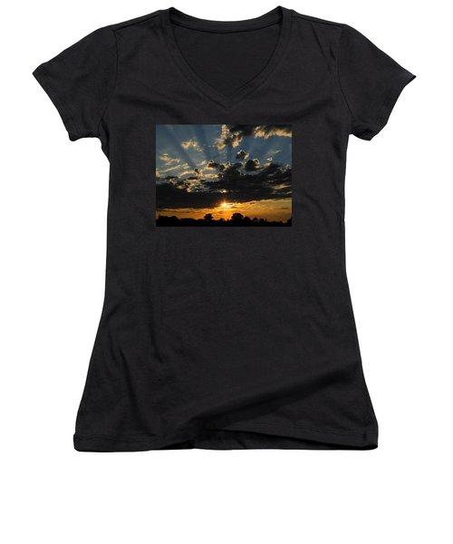 Dark Sunset Women's V-Neck T-Shirt