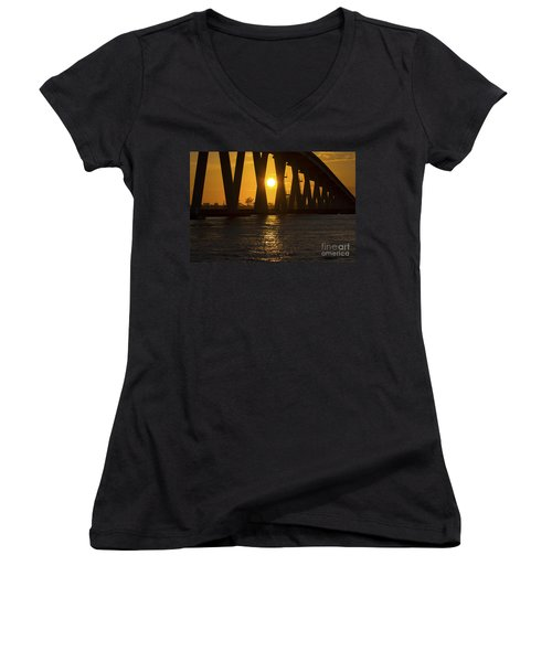 Sunset Over Sanibel Island Photo Women's V-Neck
