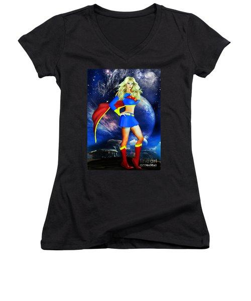 Supergirl Women's V-Neck