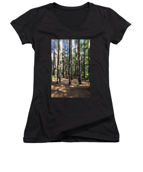 Surreal Forest Women's V-Neck (Athletic Fit)
