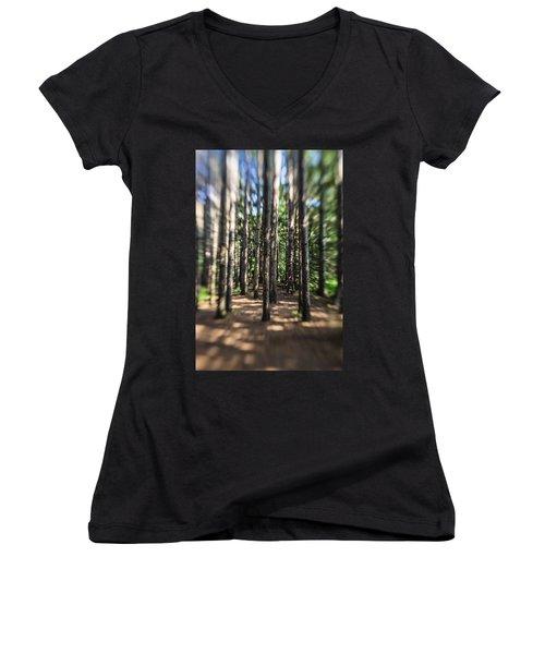 Surreal Forest Women's V-Neck T-Shirt