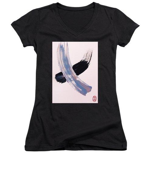 Sutoroku Women's V-Neck T-Shirt (Junior Cut) by Roberto Prusso