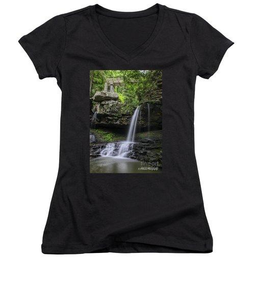 Suttons Gulch Waterfall Women's V-Neck