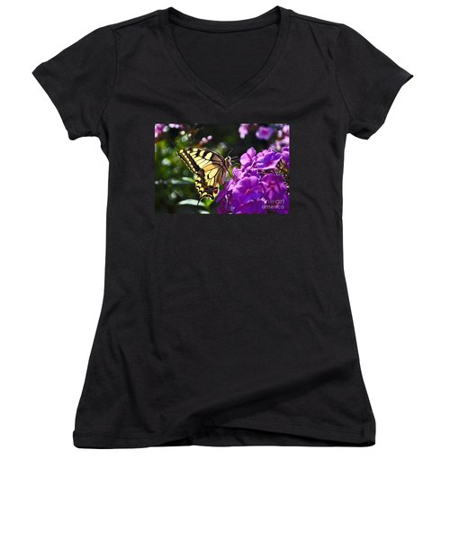 Swallowtail On A Flower Women's V-Neck T-Shirt