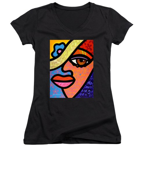 Sweet City Woman Women's V-Neck T-Shirt