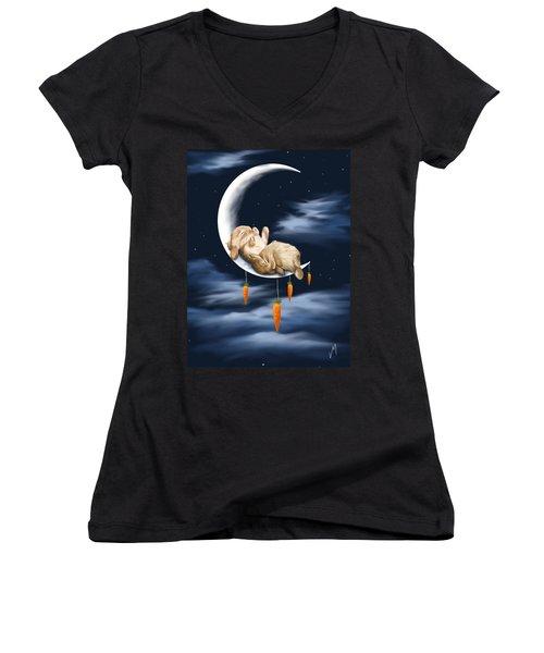 Sweet Dreams Women's V-Neck T-Shirt (Junior Cut) by Veronica Minozzi
