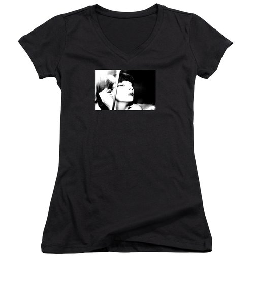 Sweet Lips Of Love Women's V-Neck T-Shirt (Junior Cut) by Steven Macanka