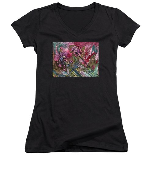 Sweet Peas In Bloom Women's V-Neck