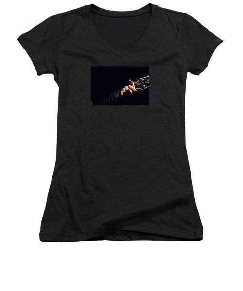 Sweet Sounds Women's V-Neck T-Shirt (Junior Cut) by John Stuart Webbstock