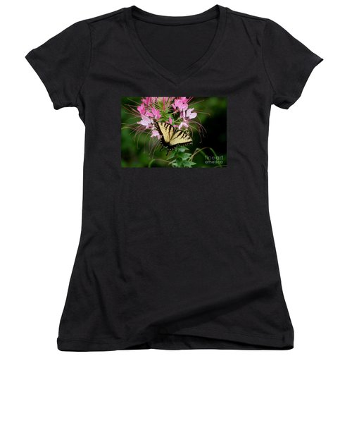 Sweet Swallowtail Women's V-Neck (Athletic Fit)