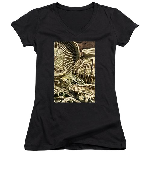 Sweetgrass Baskets - D002362 Women's V-Neck (Athletic Fit)