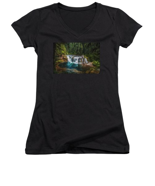 Swimming Hole Women's V-Neck (Athletic Fit)