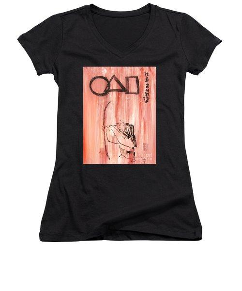 Symbols Of Zen Women's V-Neck T-Shirt (Junior Cut) by Roberto Prusso