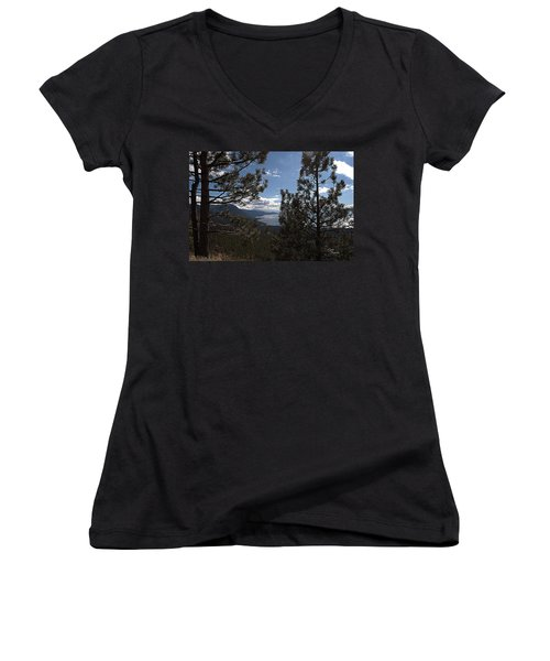 Tahoe Trees Women's V-Neck (Athletic Fit)