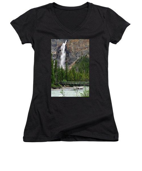 Takakkaw Falls Women's V-Neck T-Shirt