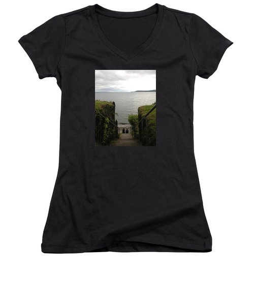 Take In The View Women's V-Neck (Athletic Fit)