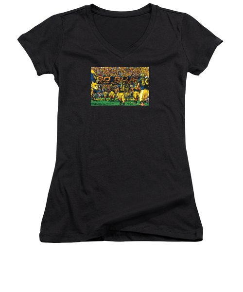 Take The Field Women's V-Neck T-Shirt (Junior Cut) by John Farr