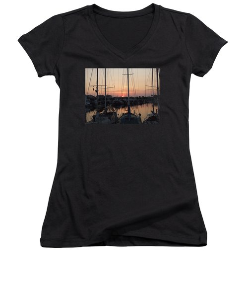 Tall Ships Women's V-Neck (Athletic Fit)