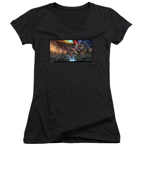 Tapped Into Obscurity  Women's V-Neck