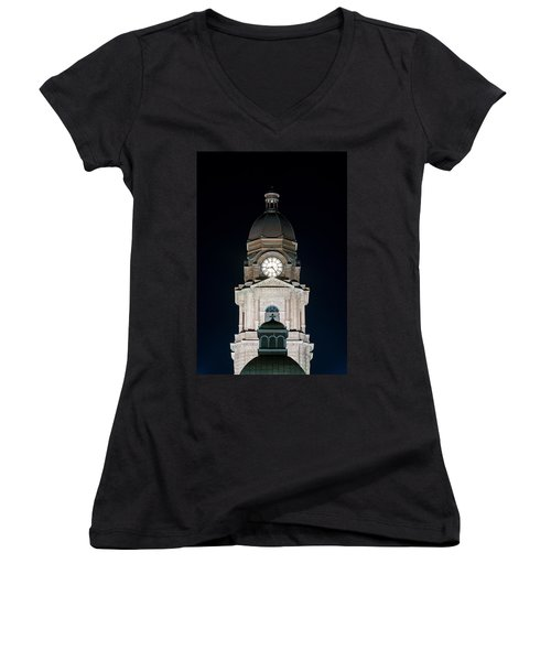 Tarrant County Courthouse V2 020815 Women's V-Neck (Athletic Fit)