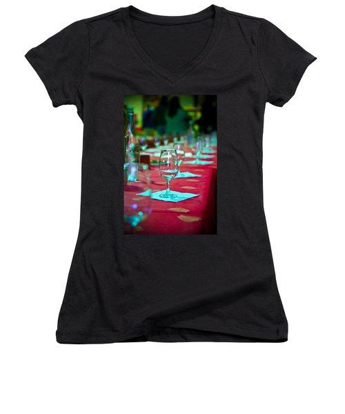 Tasting In Red Women's V-Neck T-Shirt