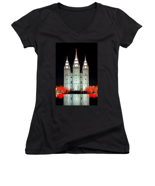 Temple Lights Women's V-Neck