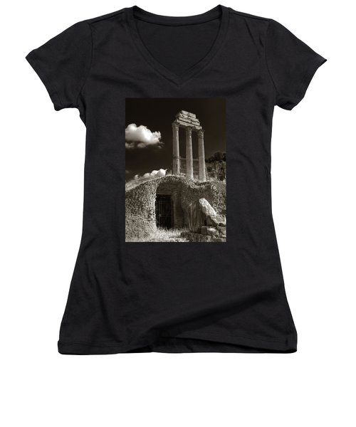 Temple Of Castor And Polux Women's V-Neck