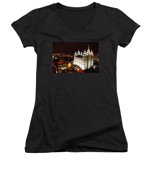 Temple Square Women's V-Neck