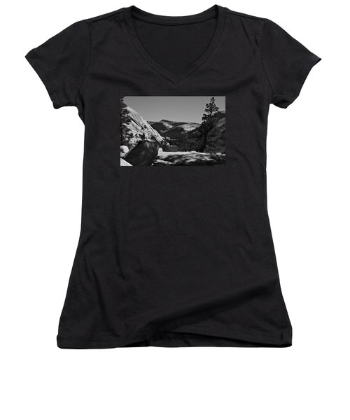 Tenaya Lake In Yosemite Women's V-Neck T-Shirt