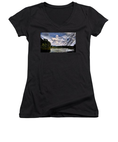 Women's V-Neck T-Shirt (Junior Cut) featuring the photograph Tennessee Dreams by Chris Tarpening
