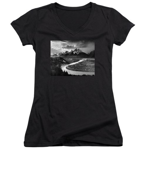 Tetons And The Snake River Women's V-Neck