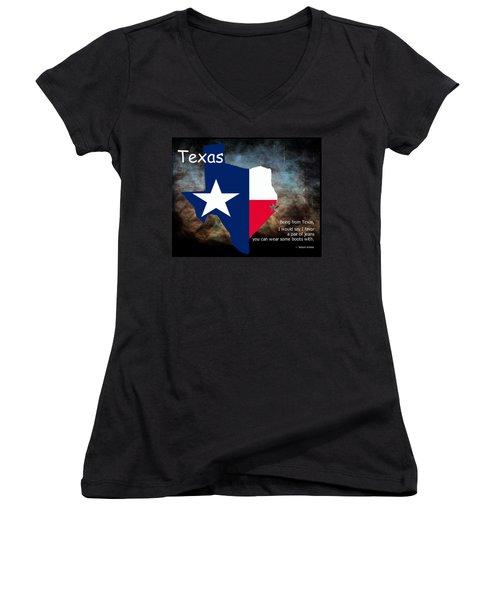 Jensen Ackles Texas Quote Women's V-Neck T-Shirt