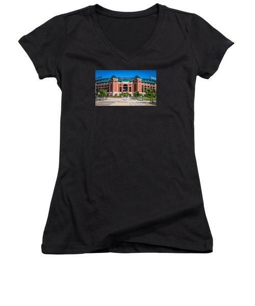 Globe Life Park In Arlington Women's V-Neck (Athletic Fit)