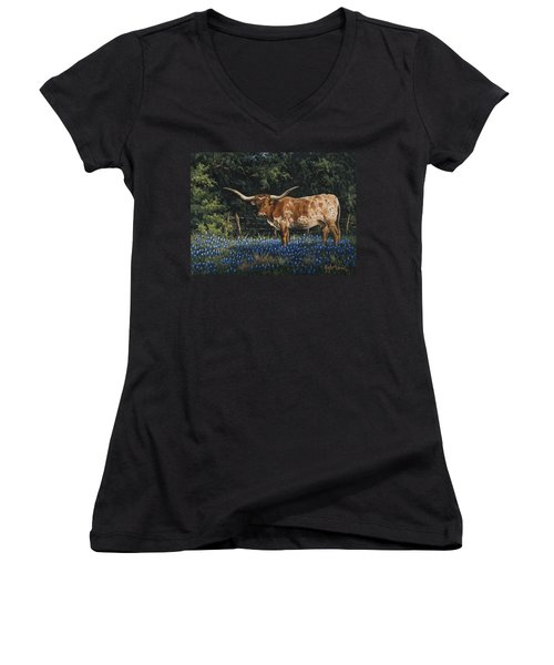 Texas Traditions Women's V-Neck (Athletic Fit)