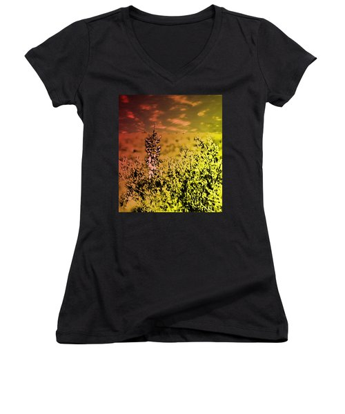 Texas Yucca Flower Women's V-Neck T-Shirt