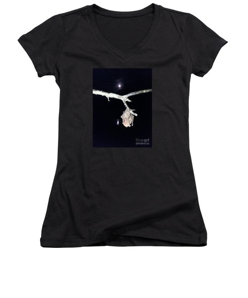 Women's V-Neck T-Shirt (Junior Cut) featuring the photograph Thank You Lord For Saving Me by Donna Brown