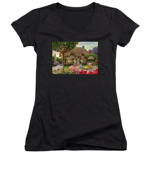 Thatched Cottage Women's V-Neck (Athletic Fit)