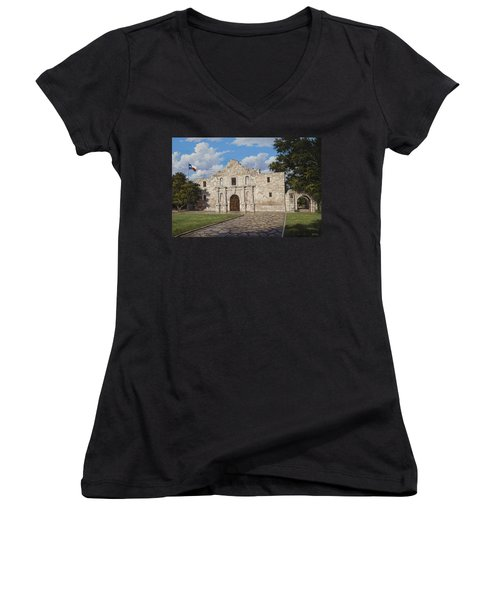 The Alamo Women's V-Neck (Athletic Fit)