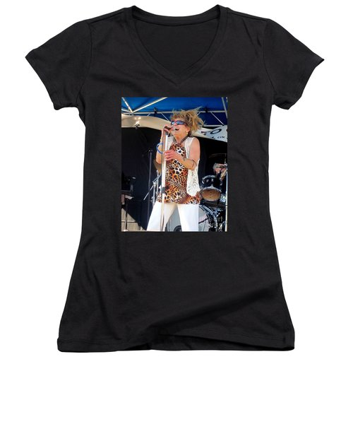 The Amazing Lydia Pense Women's V-Neck T-Shirt (Junior Cut) by Fiona Kennard