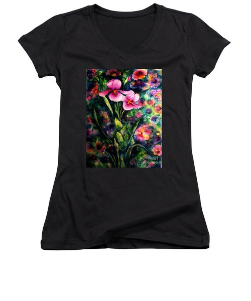 The Aroma Of Grace Women's V-Neck T-Shirt (Junior Cut) by Hazel Holland