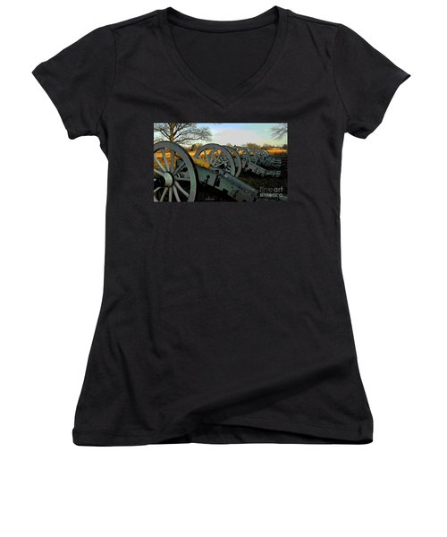The Artillery Women's V-Neck T-Shirt (Junior Cut) by Cindy Manero
