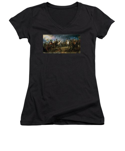 The Battle Of Austerlitz Women's V-Neck