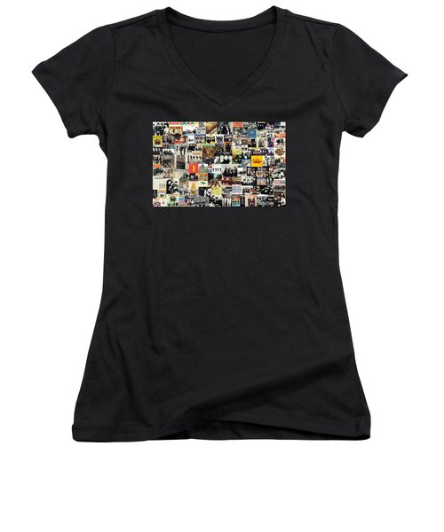 The Beatles Collage Women's V-Neck