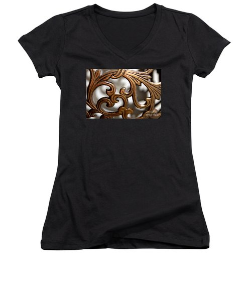 The Beauty Of Brass Scrolls 1 Women's V-Neck (Athletic Fit)