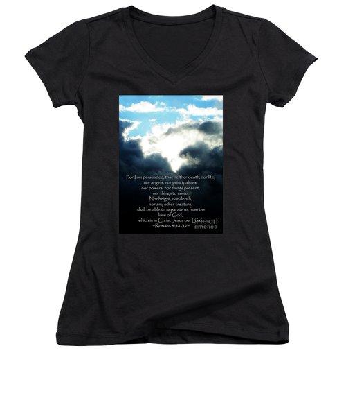 The Bible Romans 8 Women's V-Neck T-Shirt